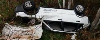Homem morre ao capotar carro entre Pimenta Bueno e Cacoal