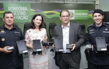 10º Batalhão de Polícia Militar de Rolim de Moura recebe kits de tecnologia embarcada