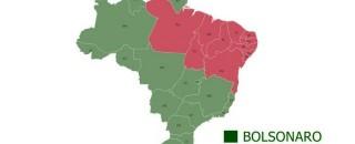 Bolsonaro vence em 16 estados, Haddad em 11