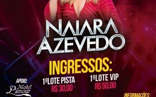 Primeiro lote de ingressos para o show de Naiara Azevedo estão se esgotando