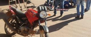 Após bater em cachorro, motociclista é socorrido pelo Resgate com suspeita de fratura de perna