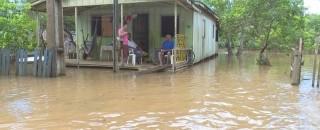 Cheia já desabriga quase 10 famílias em Ji-Paraná, RO