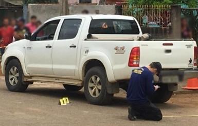 Corpo é encontrado com marcas de tiros dentro de carro em RO