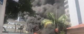 Incêndio atinge o Instituto do Coração, em São Paulo