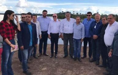 Jean Oliveira participa do ato de assinatura da Ordem de Serviço para início da obra de recuperação da ponte do Rio Jamari