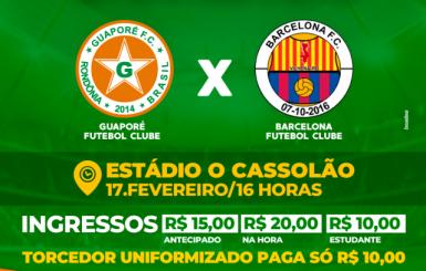 Estádio Cassolão é liberado para torcedores no jogo entre Guaporé e Barcelona