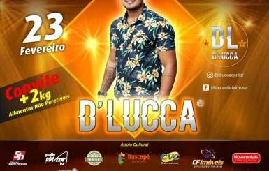 Rolim: Convites para gravação do DVD de D'Lucca já estão disponíveis; confira pontos de troca