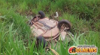 Acidente na RO 479 em Rolim:Passageira do veículo UNO morre no Hospital de Cacoal