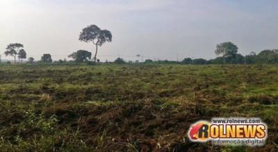 Grilagem?:Terreno doado ao CER estava com placa de vende-se, em Rolim de Moura