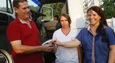 Nova Brasilândia:Produtores da Linha 114 Sul de Nova Brasilândia recebem caminhão