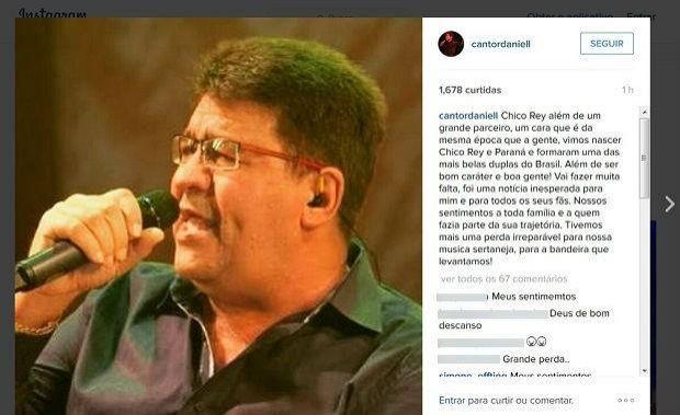 Cantor sertanejo Chico Rey morre aos 63 anos durante férias em Maceió