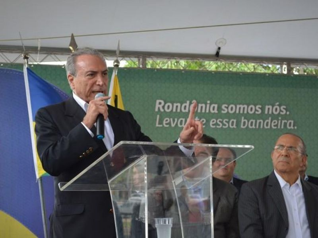Michel Temer defende em Rondônia necessidade de se