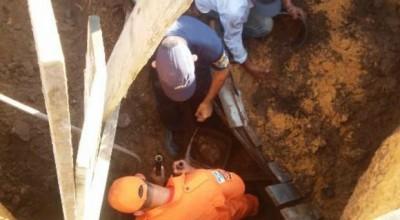 Homem fica soterrado por 3h em Vilhena e sobrevive: 'respirei por mangueira'