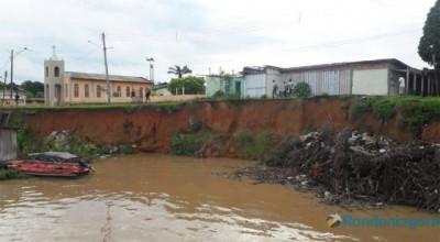 Porto Velho:Rio começa a baixar e Defesa Civil monitora Terras Caídas no Baixo Madeira