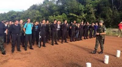 """Acadepol: Curso de formação finaliza disciplina de """"Sobrevivência em Selva"""" com estágio prático."""