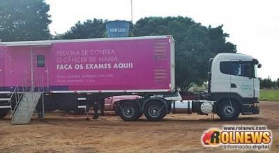 Carreta do Hospital do Câncer inicia atendimentos em Rolim de Moura