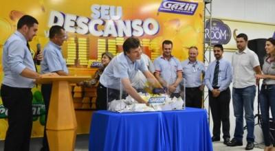 """Colchões Gazin sorteia R$350 mil na primeira fase da promoção """"Seu descanso vale ouro"""""""