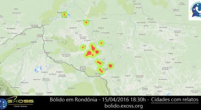Ferramenta Relate um Bólido recebe dados de possível meteoro em Rondônia