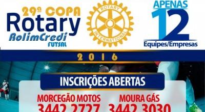 Inscrições para 29ª Copa Rotary Rolim Credi estão abertas