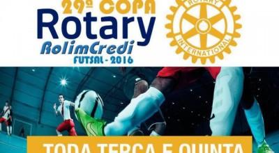 29ª Copa Rotary tem início na quinta-feira, 12, no Ninho do Pássaro em Rolim