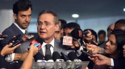 Renan comunica a senadores que vai dar continuidade ao impeachment