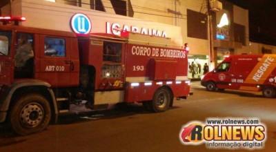 Loja de confecções de Cacoal é atingida por princípio de incêndio