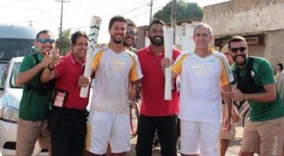 Professor Rodnei representa Rolim de Moura no revezamento da tocha olímpica