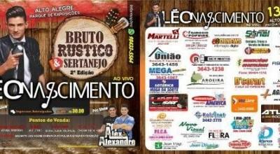 Alto Alegre:Público confirma presença em show de Léo Nascimento no Bruto Rústico e Sertanejo