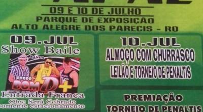 Apae de Alto Alegre dos Parecis realiza festa neste fim de semana