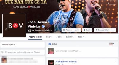 Página de João Bosco e Vinícius é bombardeada de críticas; Expovil diz que repórter se 'equivocou'