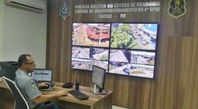 Polícia Militar aponta eficiência do sistema de videomonitoramento em um mês de funcionamento em Cacoal