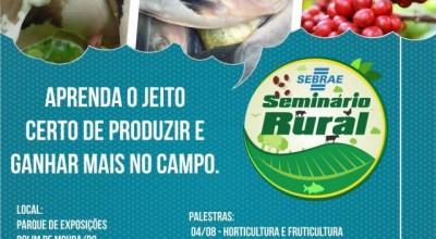 Rolim de Moura recebe Seminário Rural nesta quinta
