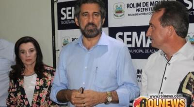 Raupp visita Rolim, Cacoal, Novo Horizonte e anuncia investimentos