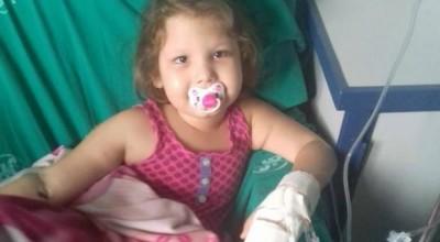 Mãe pede doação de sangue para criança internada com tumor, em Rondônia