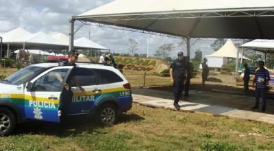 Polícia Militar monta quartel general dentro da Rondônia Rural Show