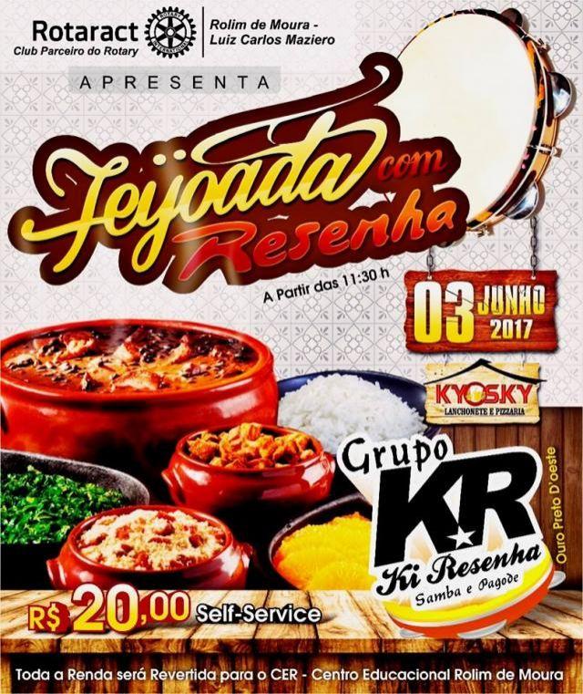 Rotaract Club realiza 1º 'Feijoada com Resenha' em prol do CER, em Rolim de Moura