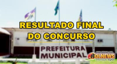 Sai o resultado final do concurso da Prefeitura de Rolim de Moura