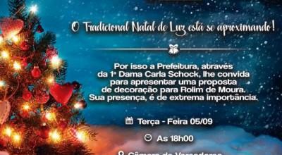 Rolim de Moura se une para realizar o 'Natal de Luz'