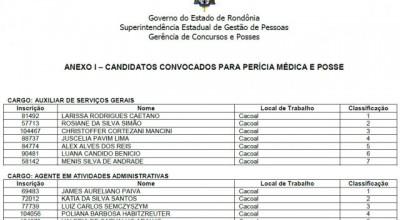 Veja a lista: Governo convoca mais de 400 candidatos aprovados no concurso da Sesau de Rondônia