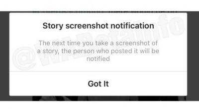 Acabou a festa: Instagram agora denuncia captura de tela no Stories