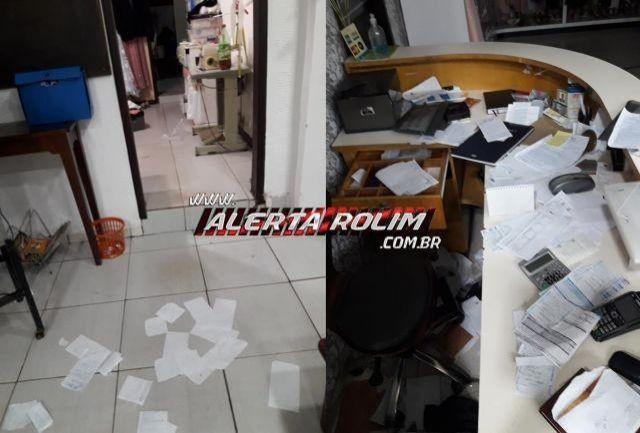 Loja de noivas é alvo de arrombamento e furto no Centro de Rolim de Moura