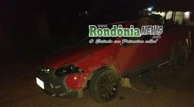 Rolim: Acidente envolvendo pickup, SW4 e motocicleta deixa duas pessoas em estado grave na RO-010