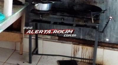 Rolim: Panela com óleo pega fogo e bombeiros são acionados