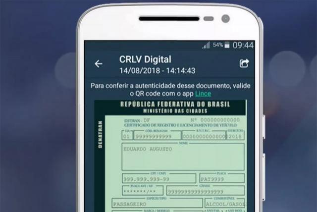 Rondônia pede ao Denatran para emitir o CRLV Digital