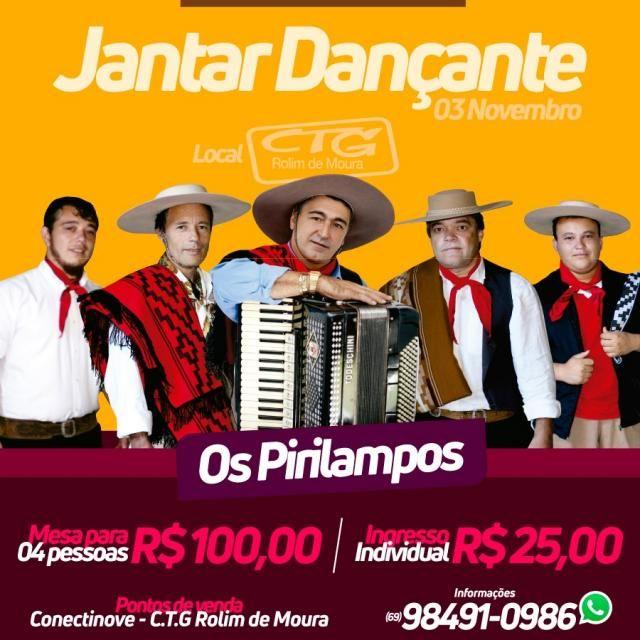 CTG promove jantar dançante com show do grupo Os Pirilampos
