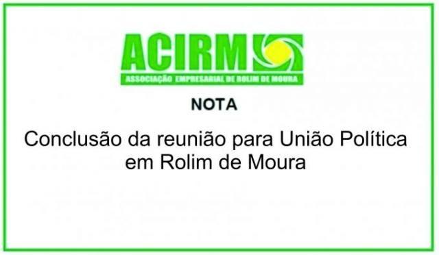 Reunião sobre  união política em Rolim de Moura