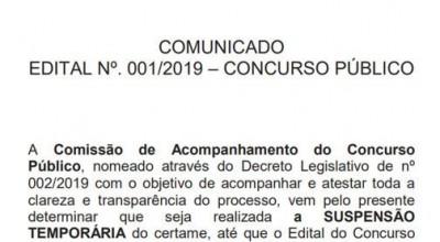 Concurso de Buritis com salários de até R$ 4 mil é suspenso temporariamente