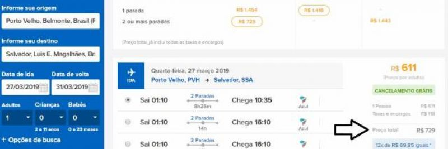 Pesquisa revela as passagens aéreas mais baratas de Porto Velho para 10 destinos; bilhetes de ida e volta a partir de R$ 310