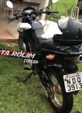 Rolim de Moura – Moto roubada de vítima que foi esfaqueada durante a ação criminosa na região de Jardinópolis é recuperada pela PM