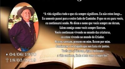 Missa de 7º dia de Selésio Bergamin será amanhã